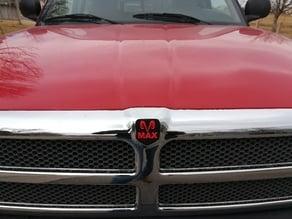 """Dodge Ram Grill Emblem """"MAX"""""""