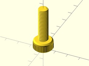 Nut, Bolt, Washer and Threaded Rod OpenSCAD library