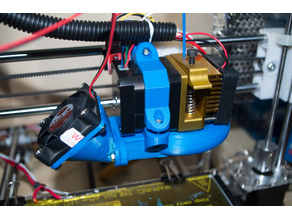 MK8 Extruder Mount with built in print cooling ring for Sintron Prusa i3