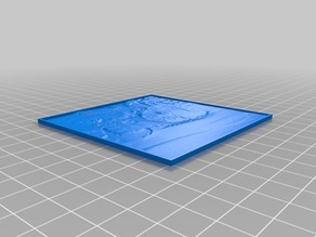 My Customized Lithophane (parametrized length and thickness)