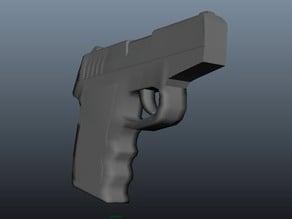 Simple 9mm Handgun