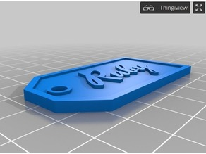 Personalized, Parametric Gift Tags Custom Remix