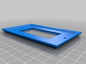 Single Designer Rocker Switch Wall Plate