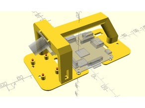 DIYRoboCar 1/28 scale mounting plate