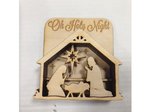 Laser cut Nativity shadow box