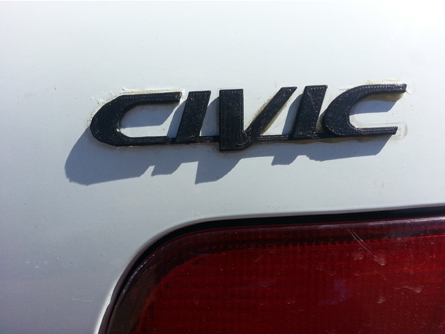 1996 2000 Honda Civic Emblem By RobotDoctor