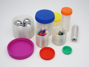 Customizable Container with Knurled Lid