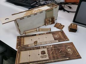 Secret Hitler laser cut game and box