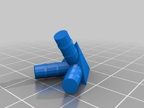 Connecteurs pour le montage d'un tetraédre ( solide de Platon ) avec des pailles