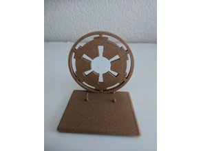 star wars display stand for black series Imperial logo
