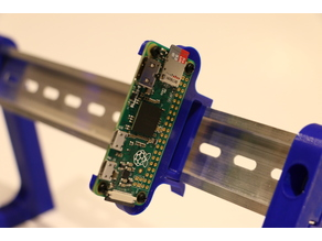 Raspberry Pi Zero Vertical Edge-Mounted DIN Mount