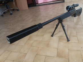Airsoft silencer for sniper rifle