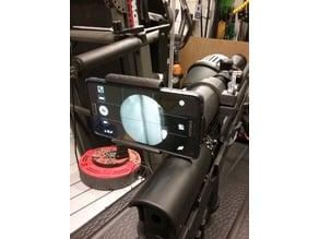 40mm gun scope android phone holder