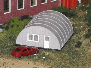 HO Scale Quonset Hut