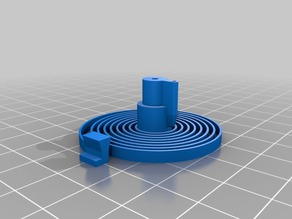 ABS printable Escapement Spring for 3D printed mechanical Clock with Anchor Escapement