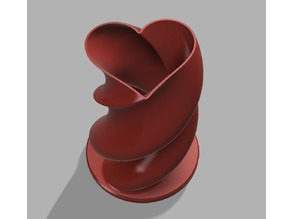 Twisted Heart Valentine's Vase