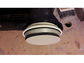 "sanding disc adapter (90 mm to 3"" or 77mm paper) with dust extraction"