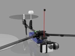 Foldable transmitter post for RCExplorer Tricopter V3