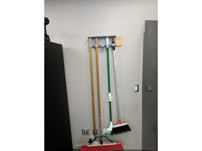 Friction Mounted Broom Holder