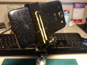 Smartphone Adjustable Size Holder - With GoPro Mount