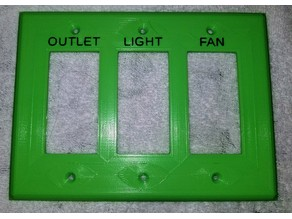 Customizable 1 to 4 Gang Wall Switch Plate