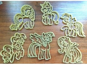 My little pony - cookie cutters