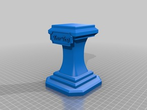 Pedestal / Stand for bust prints