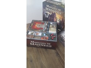 Insert for Mansions of Madness (FFG) base game + expansions storage