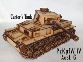 Lasercut Panzer IV G (motorized)