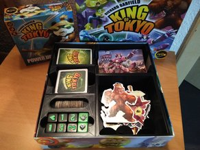 King of Tokyo insert - sleeved cards holder (incl. Power up)