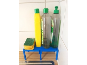 Kitchen Sink Shelf with Water Channels