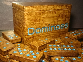Dominoes | Full 28 Piece Set with Storage Box Professional Size