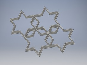 Stars and diamonds cookie cutter