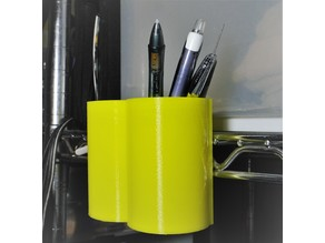 Pencil holder for metal shelving