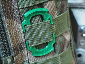 MOLLE holder for 49mm-82mm lens cap set