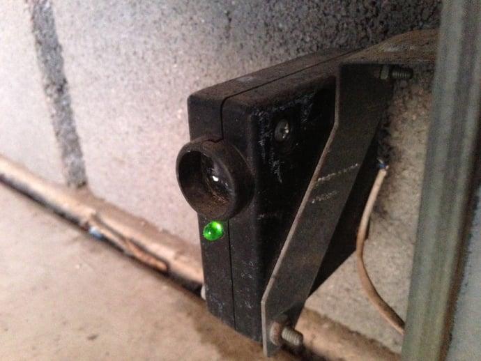 garage door sensor problem sunlight 2