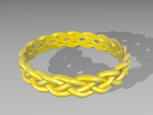 4 Strand Loose Braided Ring
