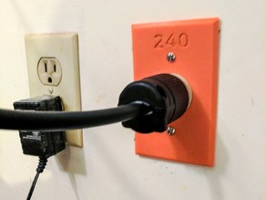 240V Single Outlet Cover Plate