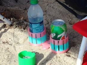Beach Bottle/Can Holder