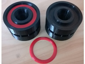 Wheels with groove and colored insert