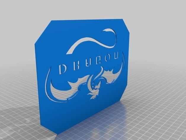 SpaceX Dragon Logo Stencil - Remix for M3D Micro by