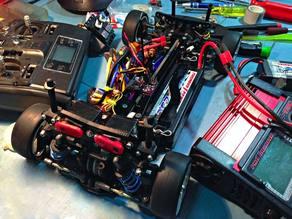 RC Car Active Suspension Shocktower on Schumacher Mi1