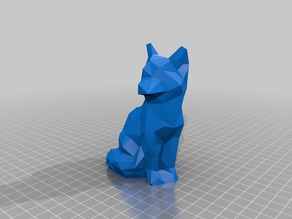Low Poly Fox Pen Holder