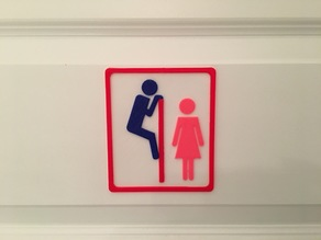 Funny toilet sign do not look over!