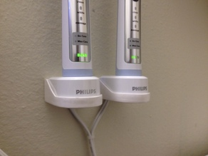 Sonicare HX6100 charger wall mount