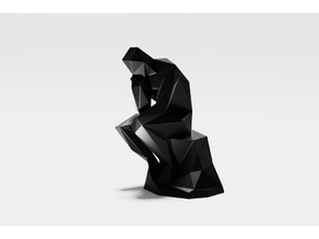Lowest poly The Thinker