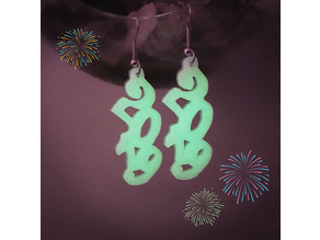 2019 New Year earrings