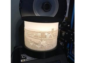 Pittsburgh Lithophane Lamp Shade, Base & Top