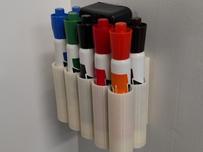 Dry Erase Marker and Eraser Holder for Whiteboard