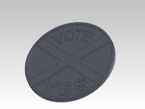 Vote YES Drinks Coaster